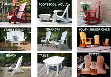 12 Adirondack Chair Plans - DOWNLOADABLE CAD PDF FILES