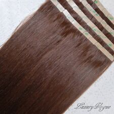 "20"" Long 100% Human Hair Remy Seamless Tape-in Extensions #33 (Dark Auburn)"