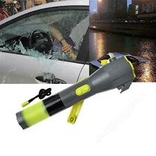 All-in-one Waterproof Emergency Crank Flashlight with LED Lights Window Breaker