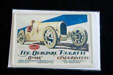 cartolina ettore Bugatti eb metallo con busta
