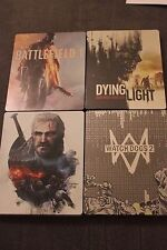 STEELBOOK LOT Battlefield 1, Witcher 3, Watch Dogs 2, Dying Light - G2 NEW!!