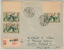 NIGER / MAURITANIA -  POSTAL HISTORY: REGISTERED COVER from BILMA to USA 1948