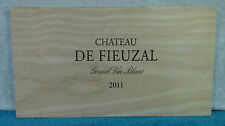 2011 CHATEAU DE FIEUZAL WOOD WINE PANEL END