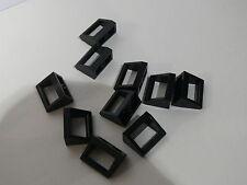 Lego  black Tile Modified 1 x 2 with Handle ou poignee noire