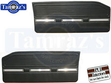 1964 1965 Barracuda 1965 Valiant Front Door Panels - Black PUI New