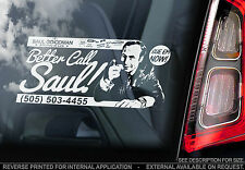 Better Call Saul! - Car Window Sticker - Breaking Bad - Goodman Heisenberg Sign