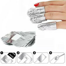 100pcs Nail Art Soak Off Acrylic Gel Polish Foil Nail Wraps Remover Soak-gel New