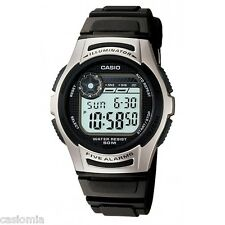 Casio W213-1A Mens Black Digital Sports Watch Dual Time 50M COUNTDOWN TIMER New