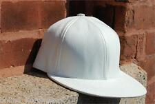 White Leather Snapback Hiphop Cap