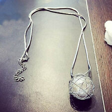 Sweet Style Women Girl's Long Silver Chain Necklace Charm Pearl Pendant Jewelry