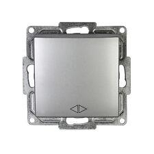 Gunsan Visage Kreuzschalter Licht Schalter Unterputz Silber 01281500150135
