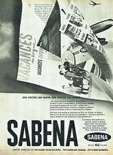 PUBLICITE ADVERTISING 066  1961  Sabena  compagnie aérienne