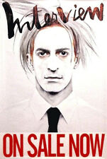 INTERVIEW MAGAZINE Orig Poster MARC JACOBS as ANDY WARHOL 2x3'Rare 2008