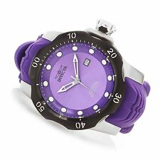 Invicta 19306 Mens Automatic Venom Sea Dragon Purple Dial Silicone Strap Watch