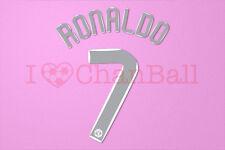 C.Ronaldo #7 2007-2008 Manchester United CL Homekit Nameset Printing