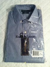 Polo Ralph Lauren Shirt Blue Navy White Sm Check Classic Fit Sz 17 32/33 NWT