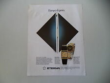 advertising Pubblicità 1979 OROLOGIO ETERNA QUARTZ/ROYAL KONTIKI