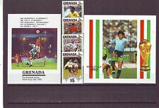 GRENADA - SG2174-MS2178 MNH 1990 WORLD CUP FOOTBALL CHAMPIONSHIP
