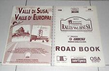 ROAD BOOK RALLY VAL DI SUSA 1° Trofeo Fiat 1992 Autostoriche Auto d'epoca Rallye