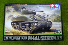 Tamiya U.S. M4A1 SHERMAN MEDIUM TANK  1/48 Scale kit 23