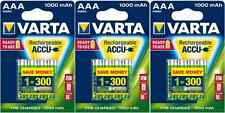 12x batería AAA micro Varta rechargeable accu 1000 mah NiMH 5703 - 3x 4er blister