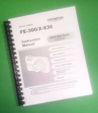 COLOR PRINTED Olympus Camera FE-300 X-830 Manual User Guide 68 Pages.