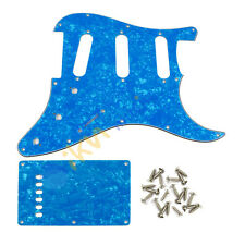 3Ply Skyblue Pearl SSS Guitar Pickguard & Back Plate w/ Screw for Squier Guitar