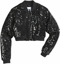 ADIDAS ORIGINALS X JEREMY SCOTT JS Cropped Sequin Bomber Jacket M63873 MSRP $450