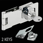 75mm Self Locking Security Hasp & Staple 2 Keys Padlock Lock Shed Cupboard 3