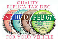 TAX DISCS.4QUALITY REPLICA REPRO CORRECT FONTS.1921 THE FUTURE or MOT REMINDER
