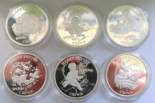 Isle of Man 2001 Harry Pot Movie Set of 6 Silver Coins,Proof