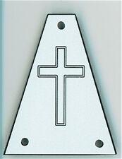 GUITAR TRUSS ROD COVER - Custom Engraved - Fits JACKSON - CROSS - WHITE