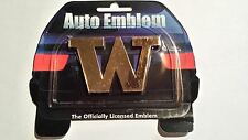 WASHINGTON HUSKIES AUTO CAR EMBLEM GOLD TONE DECAL WARREN MOON