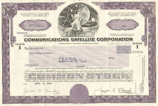Communicatioins Satellite 1983 Chicago Illinois old stock certificate share