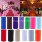 """6"""" x 30Yard Tulle Roll Spool Wedding Party Bridal Tutu Spool Gift Wrap Bow Craft"""