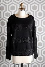 NWT Boy By Band of Outsiders Luce Sweater 4 Black Sparkle $695