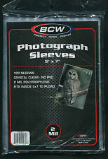 100 BCW 5 x 7 Soft Photo Protective Sleeves