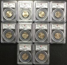 2008 P And D PCGS MS68 Satin Finish State Quarter Complete 10 Coin Set 25C