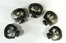 Banjo Machine Head /Tuning Peg inlay Ebony Buttons 5pcs a set -BEIN
