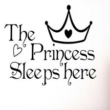 The Princess Sleep Here Home Decor Wall Sticker Wallpaper Art Vinyl Decal Chic
