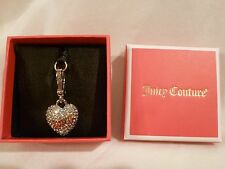 Juicy Couture Pave Puffy Heart Charm - New in Box