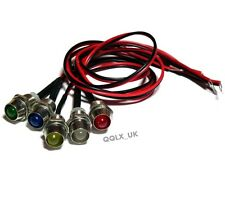 5 colour LED Indicator Light Lamp Pilot Dash Directional Car Truck Boat 12V - UK
