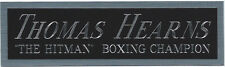 THOMAS HEARNS NAMEPLATE for AUTOGRAPHED Signed BOXING-GLOVES-TRUNKS-ROBE-PHOTO