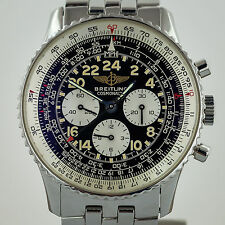 Breitling Navitimer Cosmonaute, Lemania, A12022, Mens, Stainless Steel, Manual