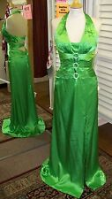 NWT Tiffany Design Apple Green Charmeuse Satin Size 4 Pageant Prom Dress 46785