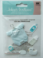 ~BABY BOYS OUTFIT~ Jolee's Boutique Dimensional Stickers; Newborn Blue Onesie