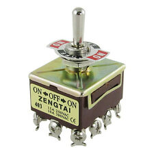ZENGTAI 10A/380VAC 15A/250VAC 3 Position 4PDT ON/OFF/ON 12 Pin Toggle Switch LW