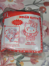 Brand New Mcdonald happy meal toy Hello Kitty Maraca Player with sticker