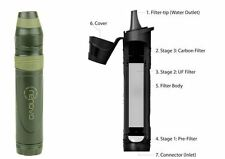 Renovo Trio Survival Water Filter - Hydration Pack & Water Bottle Compatible