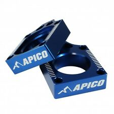 Apico REAR AXLE BLOCKS YAMAHA YZ125 YZ250 99-15 YZF250 01-08 YZF450 03-08 BLUE